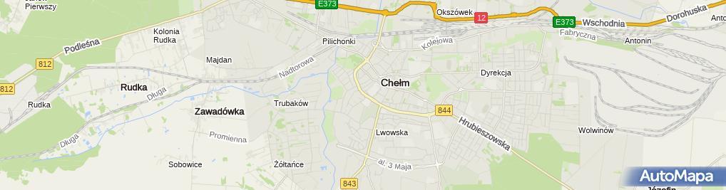 Zdjęcie satelitarne Przedsiębiorstwo Usługowo Handlowo Produkcyjne Precto Rakowski Andrzej Skóra Henryk
