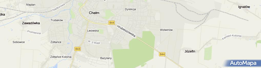 Zdjęcie satelitarne Przedsiębiorstwo Usługowo Handlowo Wytwórcze Sezam Janusz Spytek