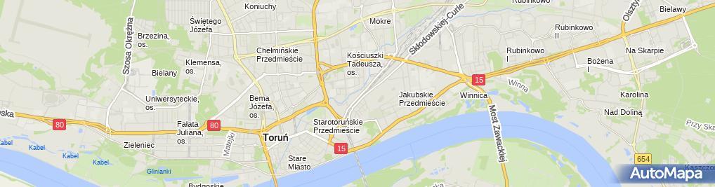 Zdjęcie satelitarne Przedsiębiorstwo Wielobr Flis Czenielewska Beata Strutyńska M
