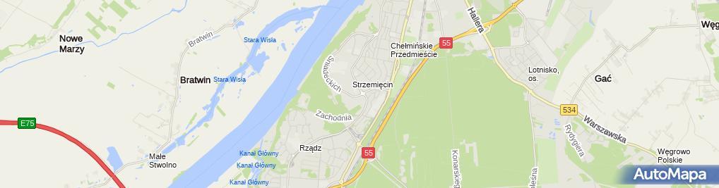Zdjęcie satelitarne Przedsiębiorstwo Wielobranżowe Agrol Banaszek Zdzisław Monika