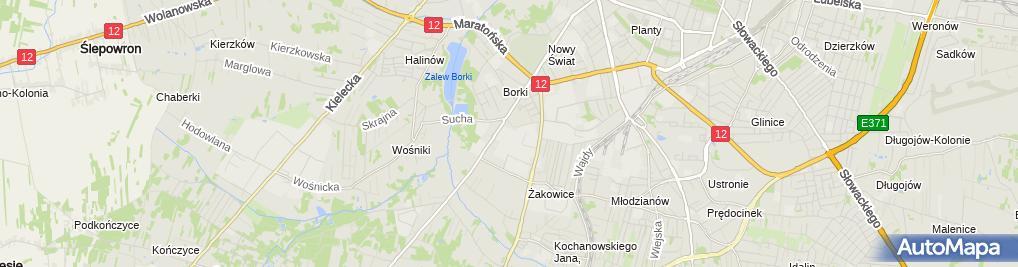 Zdjęcie satelitarne Przedsiębiorstwo Wielobranżowe Anna Adamkiewicz