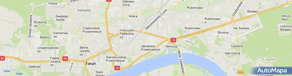 Zdjęcie satelitarne Przedsiębiorstwo Wielobranżowe GM Service Gachewicz Marian Kaźmierowski Tomasz