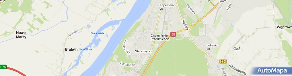 Zdjęcie satelitarne Przedsiębiorstwo Wielobranżowe Halsak Krzysztof Sakierski