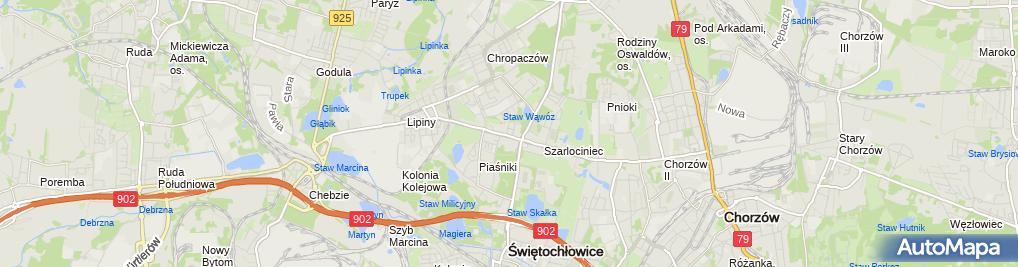 Zdjęcie satelitarne Przedsiębiorstwo Wielobranżowe Śląskie Centrum Finansowe
