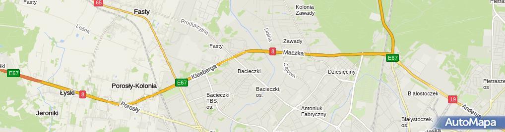 Zdjęcie satelitarne Przedsiębiorstwo Wielobranżowe Transbud Walenty Pacewicz