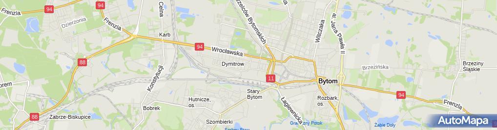 Zdjęcie satelitarne Przedszkole Miejskie nr 24 w Bytomiu