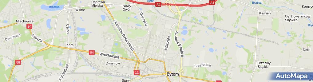 Zdjęcie satelitarne Przedszkole Miejskie nr 30 w Bytomiu