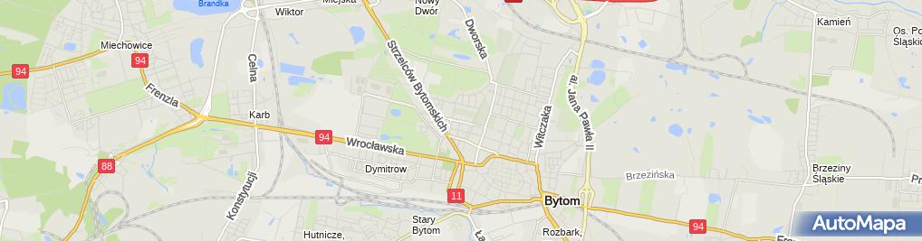 Zdjęcie satelitarne Przedszkole Miejskie nr 5 w Bytomiu