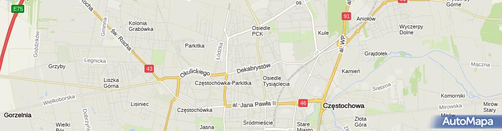Zdjęcie satelitarne Przemysław Duda Taxi