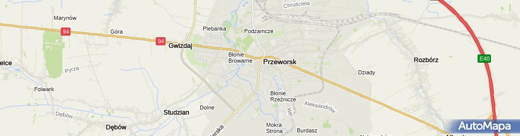 Zdjęcie satelitarne Przemysław Ścisłowicz Firma Handlowo-Usługowa Felicja