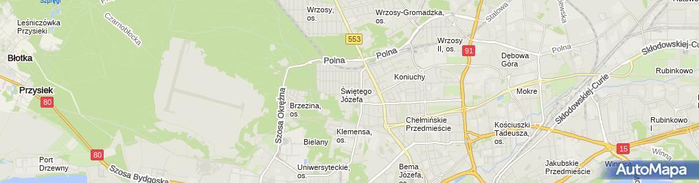 Zdjęcie satelitarne Przes Wielobranżowe Zemak Zenkner Michał Kwiatkowski Andrzej