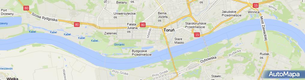 Zdjęcie satelitarne Przewodnik Turystyczny od 1960R Toruń Poland