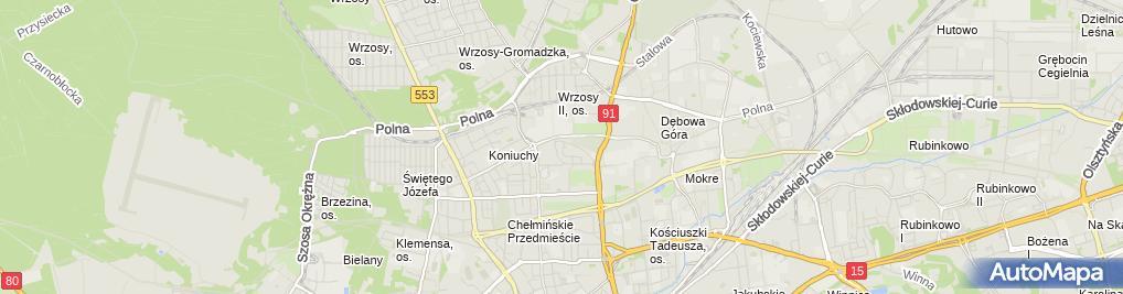 Zdjęcie satelitarne Psychoma