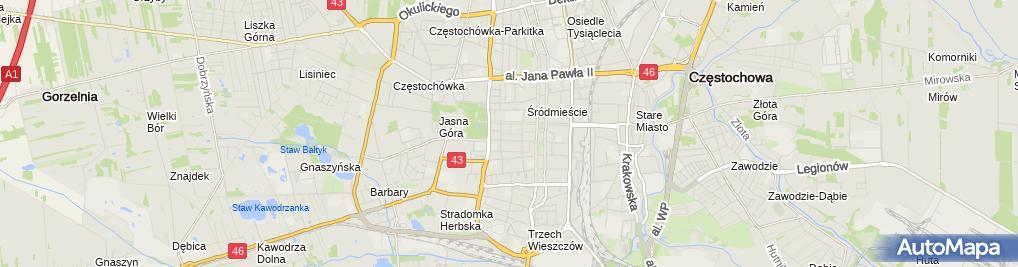 Zdjęcie satelitarne Punkt Handlowy
