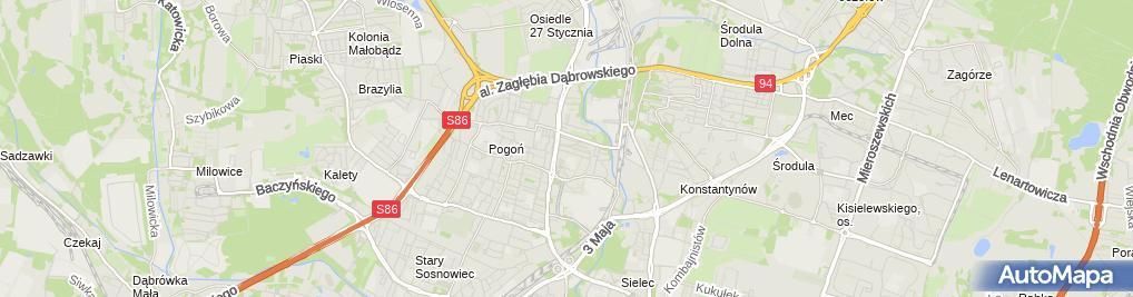 Zdjęcie satelitarne Pytel Krzysztof Krajewska Pytel Ewa Działalność Gastronomiczna