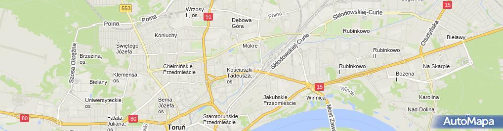 Zdjęcie satelitarne Quality Center Anna Wrzesińska