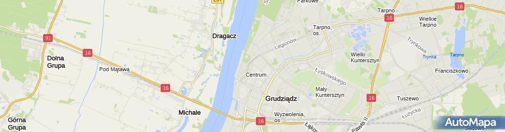 Zdjęcie satelitarne R Dent Gab Rentgenodiagnostyki Stomat Kuczyńska Anna Malik Jarosław
