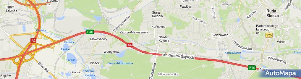 Zdjęcie satelitarne Radecka Małgorzata Hurt Detal Opony Centrogum Małgorzata i Marcin Radeccy