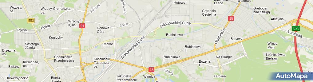Zdjęcie satelitarne Radosław Ciechalski - Działalność Gospodarcza