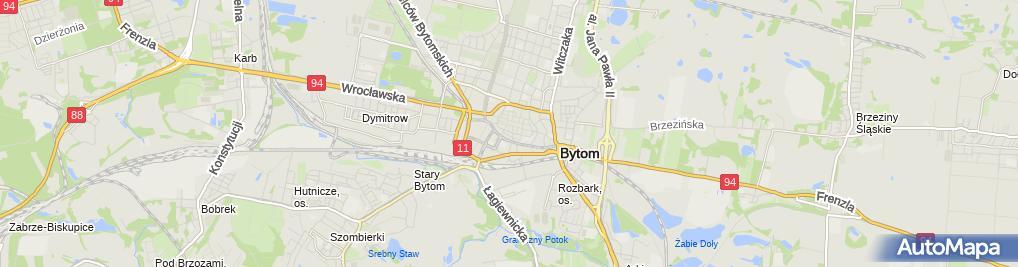 Zdjęcie satelitarne Rafał Krzywosiński Przedsiębiorstwo Produkcyjno Handlowo Usługowe Fajne Czasy