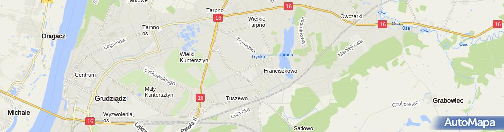 Zdjęcie satelitarne Ratownictwo Medyczne Zenon Lankiewicz