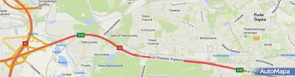 Zdjęcie satelitarne Rawo s.c. Rajmund Węgrzyn Wojciech Smyczek Marcin Żur