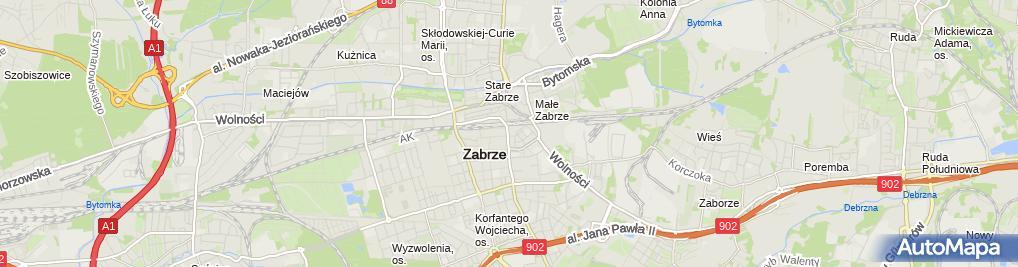 Zdjęcie satelitarne Rębacz Kazimierz Nowogrodzka Krystyna Handel Hurt Det Artyk Przem