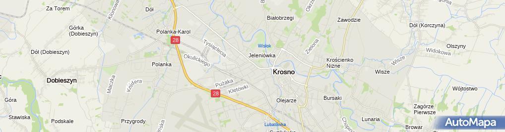 Zdjęcie satelitarne Regionalne Centrum Kultur Pogranicza
