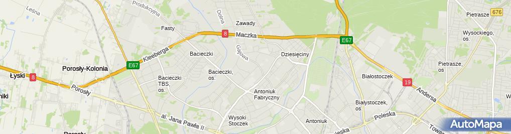 Zdjęcie satelitarne Rekord Białystok