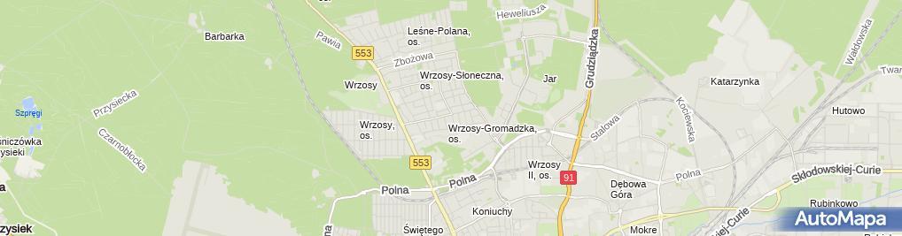 Zdjęcie satelitarne Relief Włodzimierz Rumiński