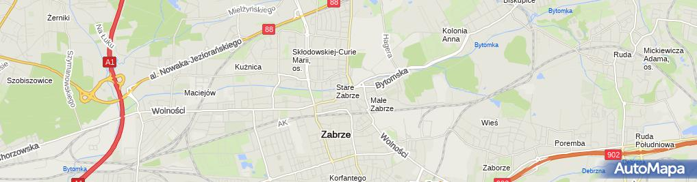 Zdjęcie satelitarne Renesans Anna Łebek