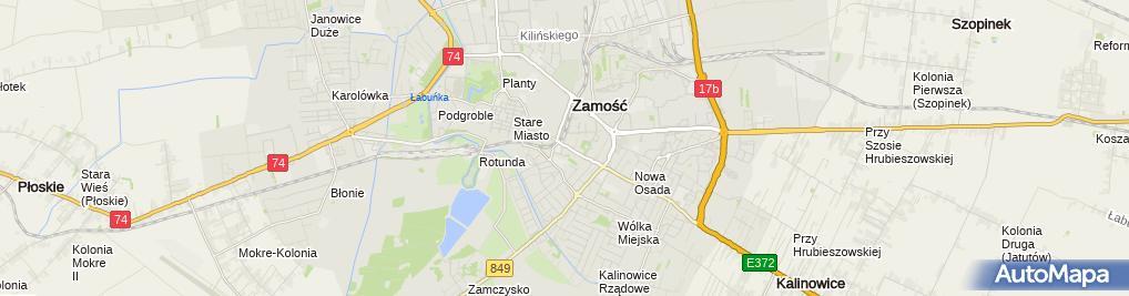 Zdjęcie satelitarne Reticella Ćwik Krystyna Biłant Agnieszka