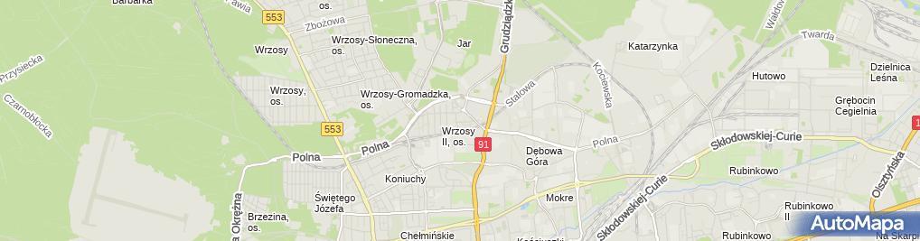 Zdjęcie satelitarne Rewaco Toruń