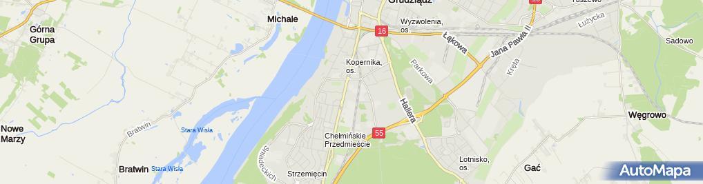 Zdjęcie satelitarne Robionek Kazimierz Studio Projektów Sanitarnych Projwent Robionek