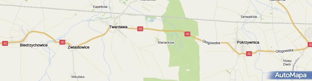 Zdjęcie satelitarne Rolnicza Spółdzielnia Produkcyjna w Twardawie