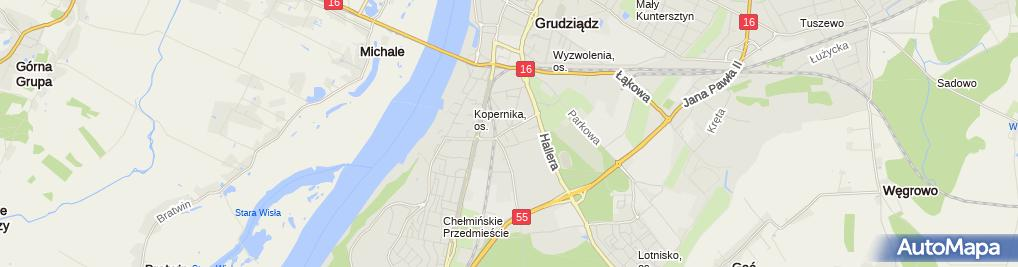 Zdjęcie satelitarne Roman Gieraj - Działalność Gospodarcza