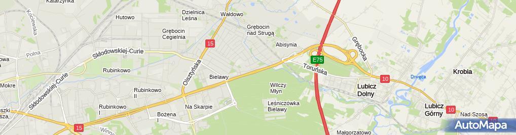 Zdjęcie satelitarne Romanowski Paweł Auto Handel Holowanie Kitek