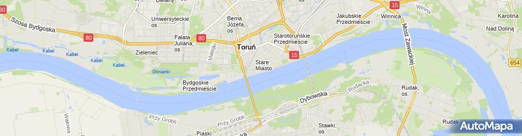 Zdjęcie satelitarne Rotary Club Toruń