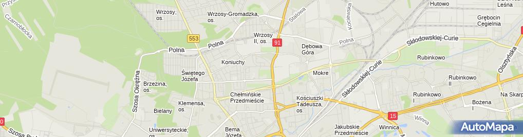 Zdjęcie satelitarne Rowo Metal Bukowski Robert Pudełko Wojciech