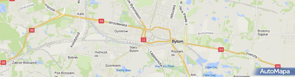 Zdjęcie satelitarne Ruch Odnowy Bytomia