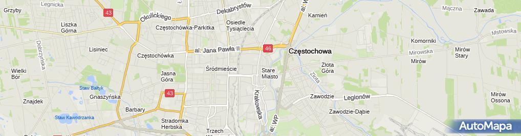 Zdjęcie satelitarne Ruch Wolności w Częstochowie