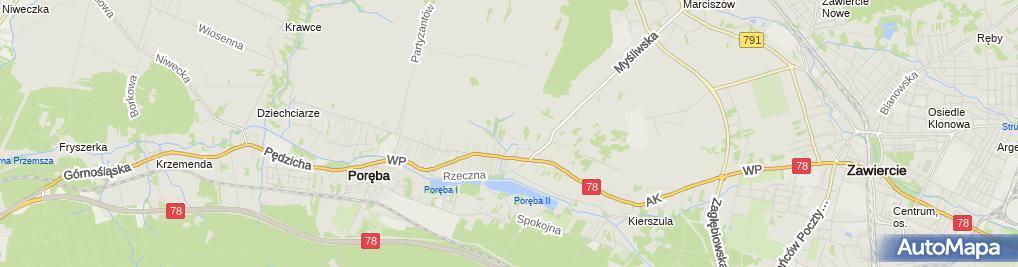 Zdjęcie satelitarne Rydzy Maria Usługi Wulkanizacyjne, Wyrób i Sprzedaż Artykułów z Tworzyw Sztucznych i Gumy Maria Rydzy