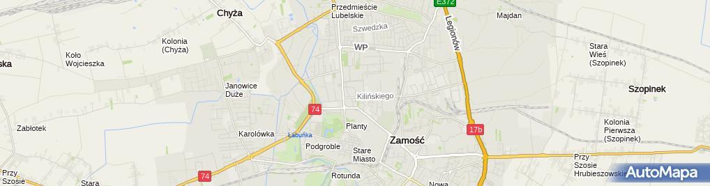 Zdjęcie satelitarne Ryszard Flisiak - Działalność Gospodarcza