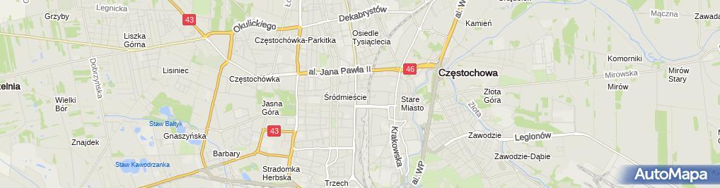 Zdjęcie satelitarne Rzedsiębiorstwo Usługowo Handlowe Trawers