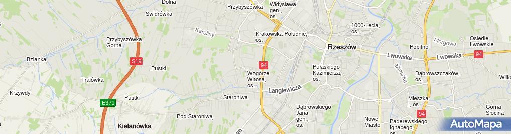 Zdjęcie satelitarne Rzeszów J Dębicki