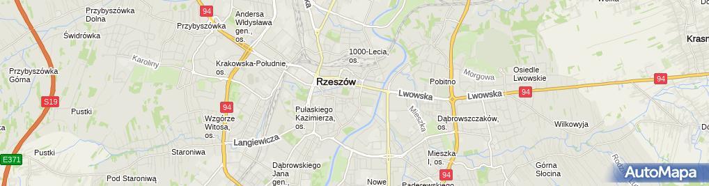 Zdjęcie satelitarne Rzeszowska Spółdzielnia Mieszkaniowa
