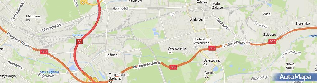 Zdjęcie satelitarne Sala Bankietowa