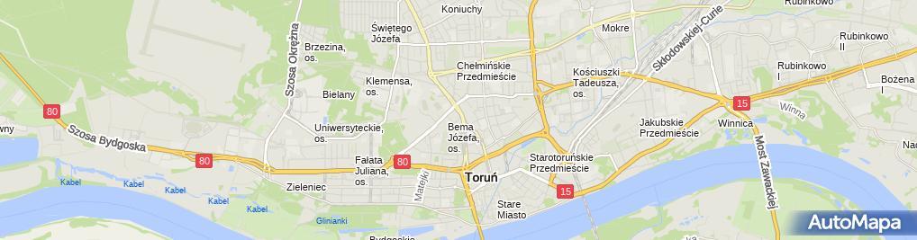 Zdjęcie satelitarne Sałajczyk Dariusz Maida Przedsiębiorstwo Usługowo Handlowe