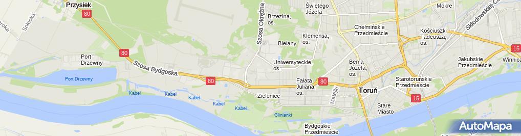 Zdjęcie satelitarne Salon Fryzjerski Damsko Męski