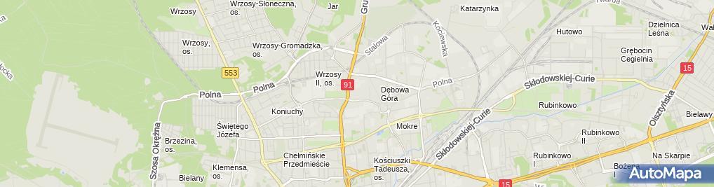 Zdjęcie satelitarne Salon Prasowy